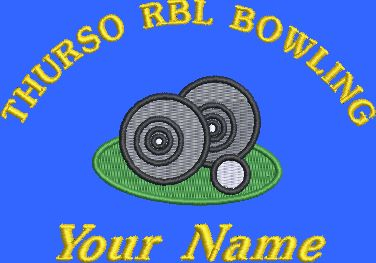 THURSO RBL BOWLING ADULT POLO SHIRT WITH EMBROIDERED LOGO AND NAME